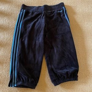 Adidas Ladies Velour Capris Size M NWT